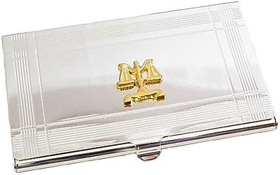 Bey-Berk Legal Business Card Case, Silver Plated