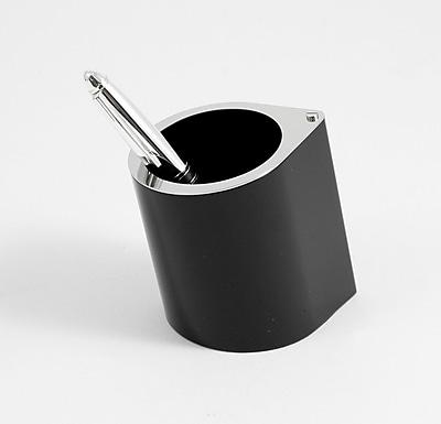 Bey-Berk Pen Cup Black Enamel With Stainless Steel
