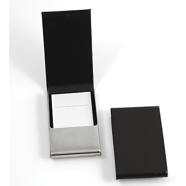 Bey-Berk D258 Leather Business Card Cases With Flip Top and Magnetic Closure