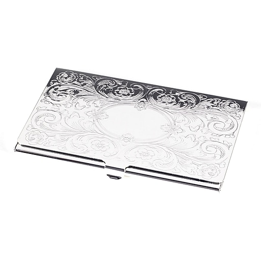 Bey berk silver plated business card case with filigree and oval httpsstaples 3ps7is images for bey berk silver plated business card case colourmoves Choice Image