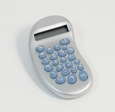 Bey-Berk D382 Ergonomic Calculator With Satinized Pearl Finish