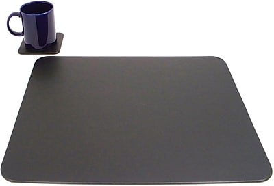 Bey-Berk Conference Table Pad With Single Coaster, Black, 17