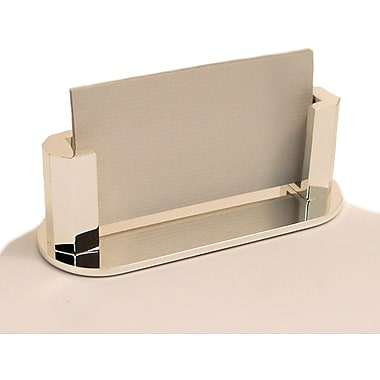 Bey-Berk Silver Plated Business Card Holder (D514)
