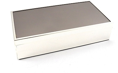 Bey-Berk Box With removable Lid and Velvet Lined, Silver Plated