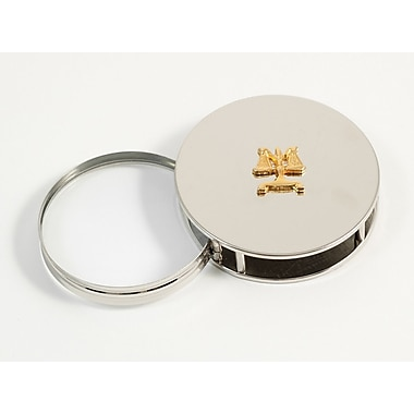 Bey-Berk Chrome Plated Magnifying Glass Paperweight, Legal