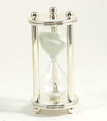 Bey-Berk 5 Minute Silver Plated Sand Timer
