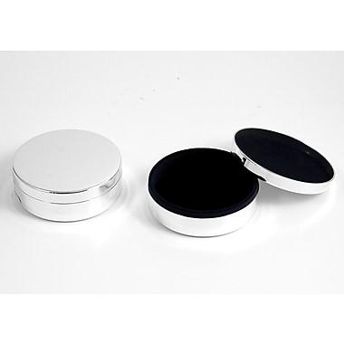 Bey-Berk Round Keepsake Box With Velvet Lining, Silver Plated
