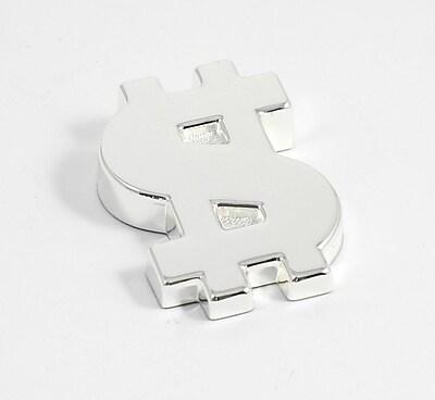Bey-Berk D545 Silver Plated Paperweight, Dollar