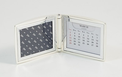 Bey-Berk D599 Silver Plated Perpetual Calendar and Picture Frame With Sold Back, 2