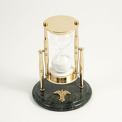 Bey-Berk 30 Minute Brass and Green Marble Sand Timer, Medical