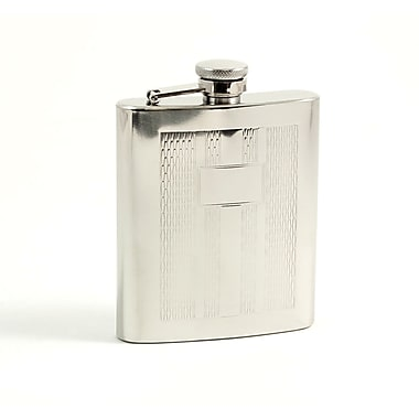 Bey-Berk Stainless Steel Mirror Finish Flask With Cap and Rubber Seal, 7 oz., Weave Design