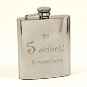 Bey-Berk Stainless Steel  Mirror Finish Flask With Cap and Rubber Seal, 7 oz., 5 o'clock