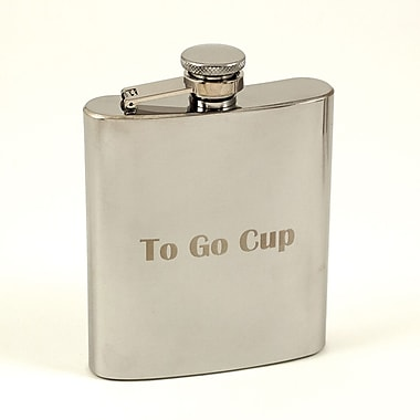 Bey-Berk Stainless Steel Mirror Finish Flask With Cap and Rubber Seal, 7 oz., To Go Cup