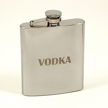 Bey-Berk Stainless Steel Mirror Finish Flask, Vodka, 7 oz. (FS107V)