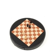 Bey-Berk G545 Chess Set With Black Leather Wrapped Around the Playing Board Playing Pieces in Wood