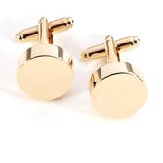 Bey-Berk J119 Gold Plated Cufflinks, Round