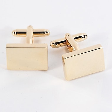 Bey-Berk Gold Plated Cufflinks, Rectangular