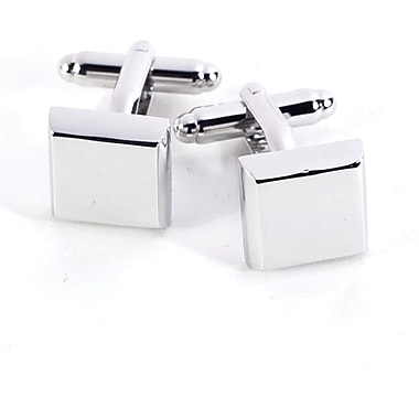 Bey-Berk J146 Rhodium Plated Cufflinks, Square