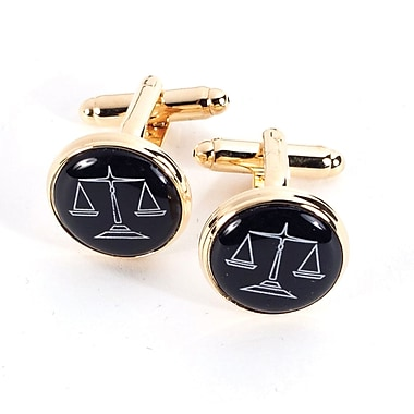 Bey-Berk Gold Plated Cufflinks, Scales (J174)