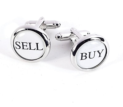 Bey-Berk J176 Rhodium Plated Cufflinks, Buy and Sell