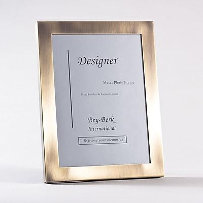 Bey-Berk Brushed Bronze Picture Frame, 5