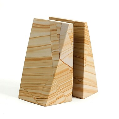 Bey-Berk Bookends, Natural Marble