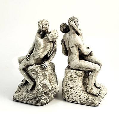 Bey-Berk The Kiss Bookends, Resin, Bronze Finish