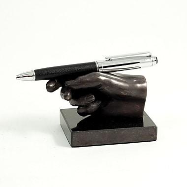 Bey-Berk Marble Base Hand Pen Holder