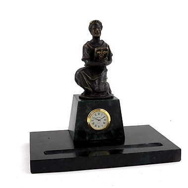 Bey-Berk Medical Pen Holder With Bronze Clock