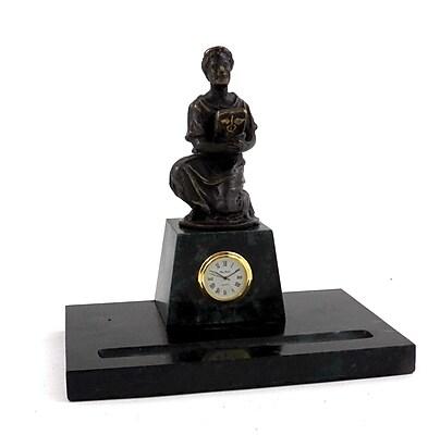 Bey-Berk Medical Pen Holder With Bronze Clock