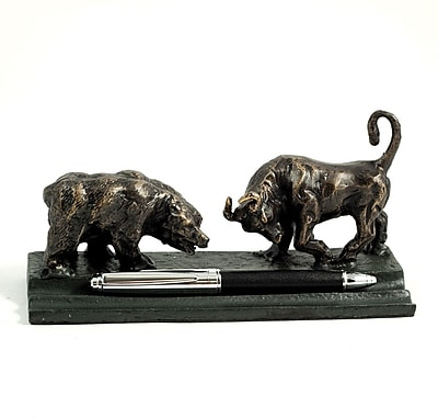 Bey-Berk R21X Bull and Bear Double Pen Holder