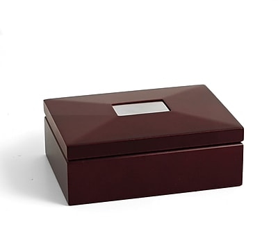 Bey-Berk R53 Box With Divider, Mahogany