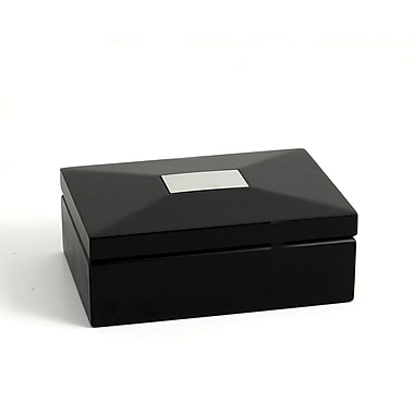 Bey-Berk Ebony Box With Divider