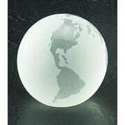 """Bey-Berk R63W 3"""" Crystal Globe Paperweight"""