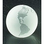 """Bey-Berk 3"""" Crystal Globe Paperweight (R63W)"""