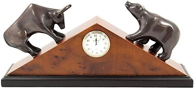 Bey-Berk Brass Stock Market Clock