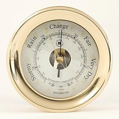 Bey-Berk Brass Barometer With Compass Rose