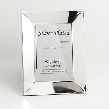 Bey-Berk SF101-12 Silver Plated Picture Frame, 8