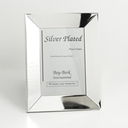 """Bey-Berk SF101-12 Silver Plated Picture Frame, 8"""" x 10"""""""