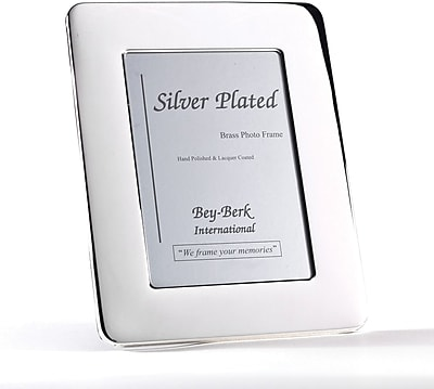 Bey-Berk SF163-09 Silver Plated Picture Frame, 4