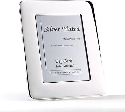 Bey-Berk SF163-12 Silver Plated Picture Frame, 8