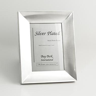 Bey-Berk SF181-11 Brushed Metal Picture Frame, 5
