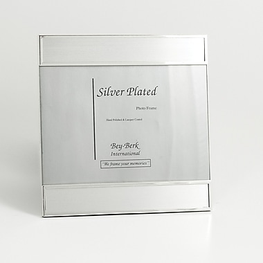 Bey-Berk SF186-11 Silver Plated Picture Frame, 5