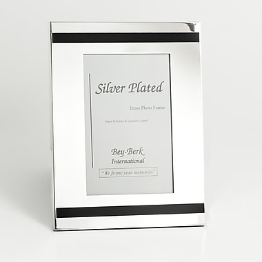 Bey-Berk Silver Plated Picture Frame, 4
