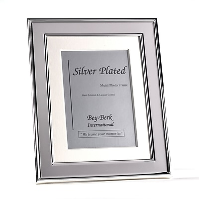 Bey-Berk SF198-09 Silver Plated Picture Frame, 4