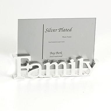 Bey-Berk Silver Plated Family Frame, 4
