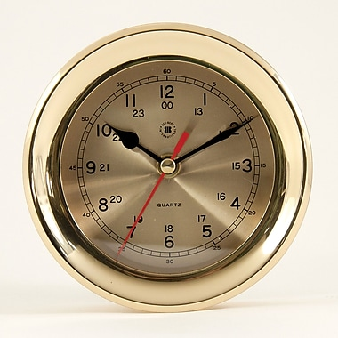 Bey-Berk Brass Clock (SQ507)