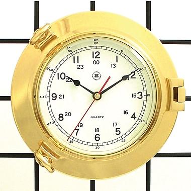 Bey-Berk Brass Porthole Clock (SQ513)