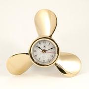 Bey-Berk Brass Propeller  Clock