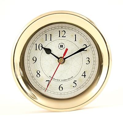 Bey-Berk Brass Clock With Compass